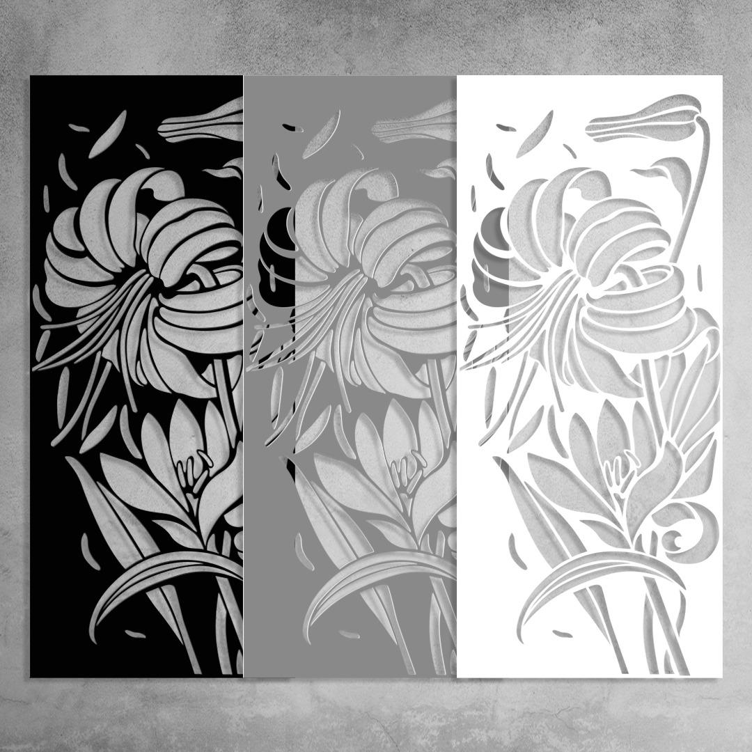 """panel przestrzenny """"Lilie"""""""