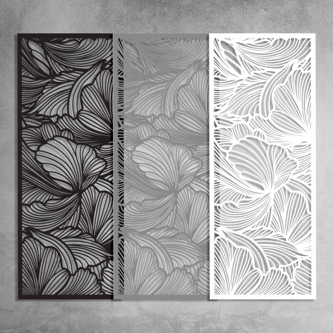 panel przestrzenny, ażurowy. alternatywa materiału i koloru.
