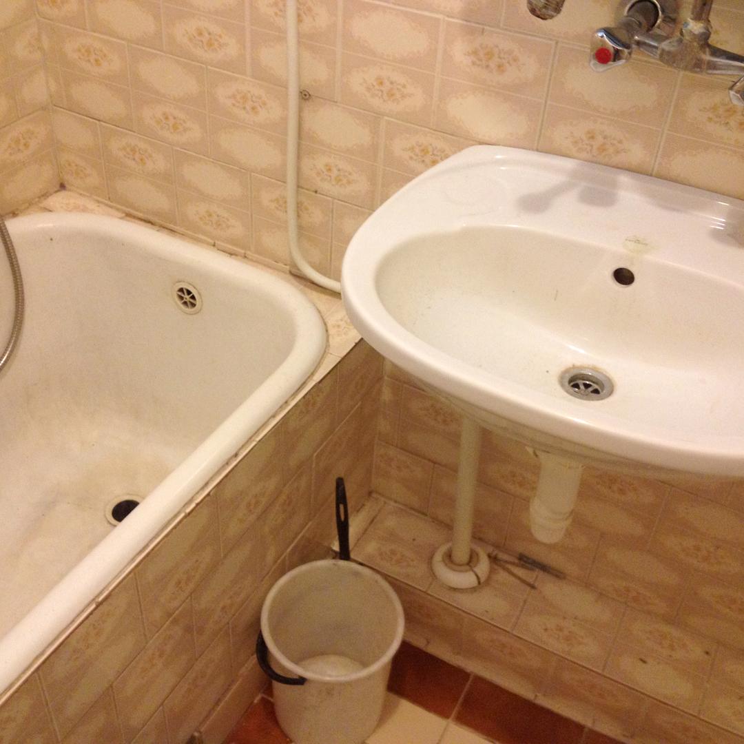 stan łazienki przed remontem